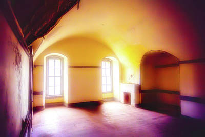Colorful Buildings Photograph - Long Empty Room by Garry Gay
