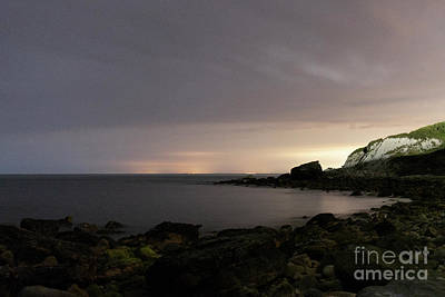 Photograph - Long Exposure Night Bay by Clayton Bastiani