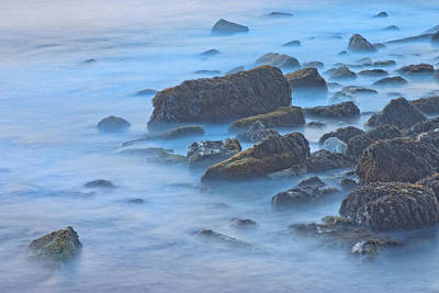 Photograph - Long Exposure Of Rocks And Waves At Sunset. by Keith Webber Jr