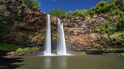 Photograph - Long Exposure Of Wailua Falls by Pierre Leclerc Photography