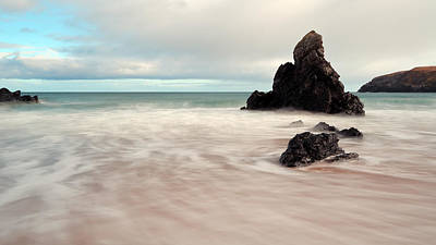 Scottish Landscape Photograph - Long Exposure On Sango Bay by Maria Gaellman