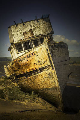 Point Reyes Photograph - Long Forgotten Boat by Garry Gay