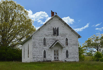 Photograph - Long Forgotten Church On The Road by rd Erickson