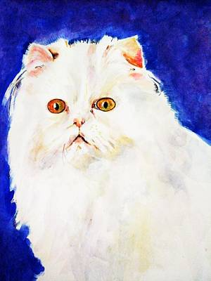 Painting - Long Hair Cat by Khalid Saeed