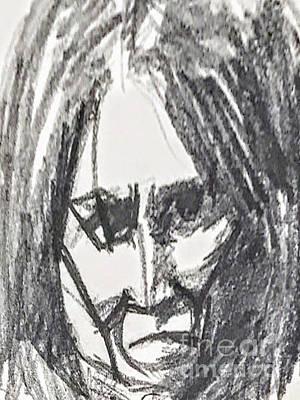 Mixed Media - Long Hair by Suzn Art Memorial