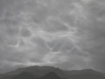 Digital Art - Long Hazy Mts 3 by Stan  Magnan