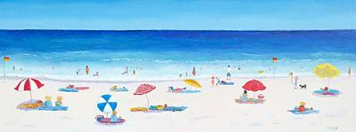 People On Beach Wall Art - Painting - Long Hot Summer by Jan Matson
