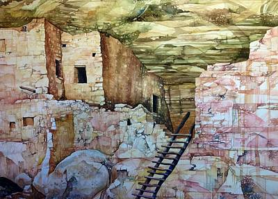 Painting - Long House, Mesa Verde National Park by Lance Wurst