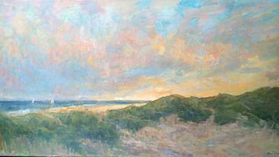 Painting - Long Island At Sunset by Bart DeCeglie