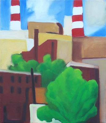 Painting - Long Island City View by Ron Erickson