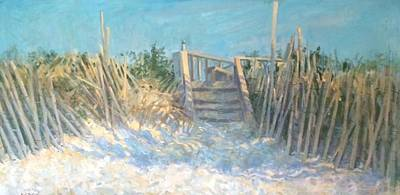 Painting - Long Island Dune Steps by Bart DeCeglie