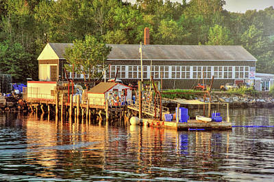 Photograph - Long Island Harbor - Maine by Joann Vitali