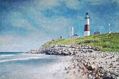 Digital Art - Long Island Lighthouse by Kai Saarto