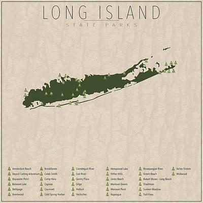 Long Island Digital Art - Long Island Parks by Finlay McNevin