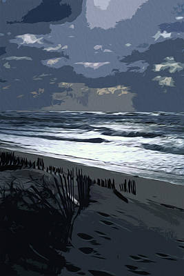 Painting - Long Island Quogues Beaches by Andrea Mazzocchetti