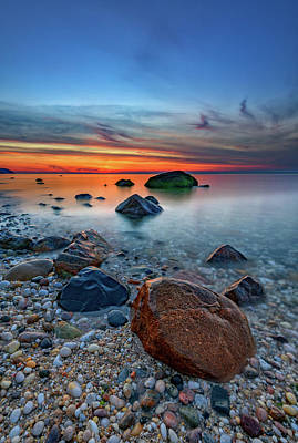 Long Island Sound At Dusk Art Print by Rick Berk