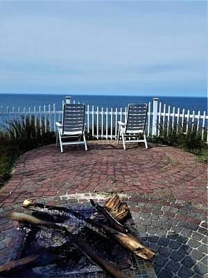 Photograph - Long Island Sound Patio Fire Pit by Rob Hans