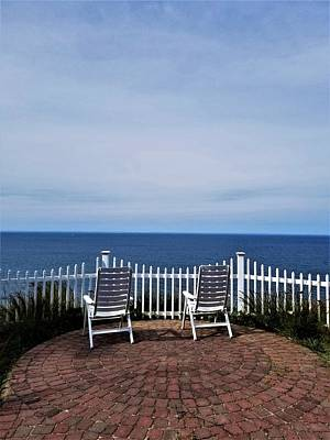 Photograph - Long Island Sound Patio  by Rob Hans