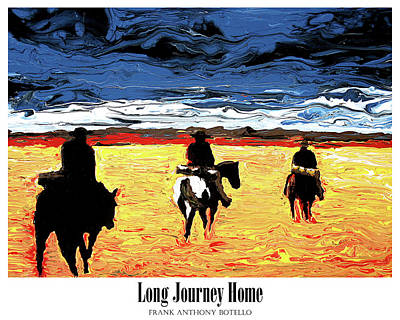 Painting - Long Journey Home II by Frank Botello