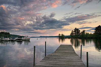 Photograph - Long Lake At Sunset by Darylann Leonard Photography