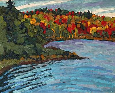 Beaver Lake Painting - Long Lake Campus by Phil Chadwick