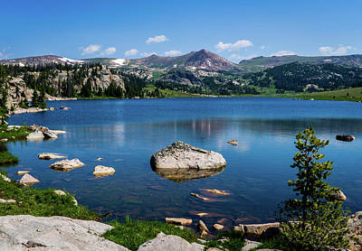 Photograph - Long Lake On The Beartooth Highway by TL Mair