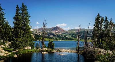 Photograph - Long Lake Wyoming No. 2 by TL Mair