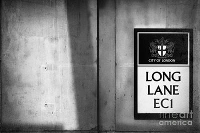 Long Lane Ec1 Art Print