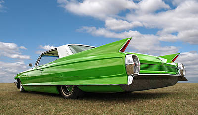 Photograph - Long Lean And Green - '62 Cadillac by Gill Billington