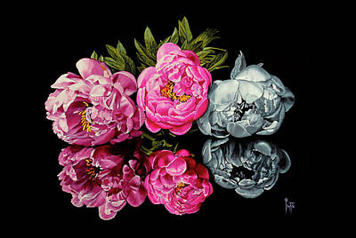 Painting - Long Life, Honor And Wealth Has Variable Colors by Jette Van der Lende
