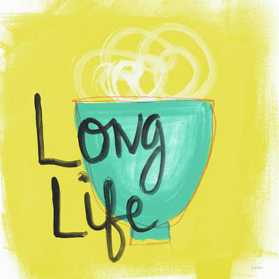 Long Life Noodles- Art By Linda Woods Art Print