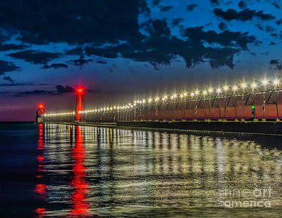 Photograph - Long Lights At Grand Haven Pier by Nick Zelinsky