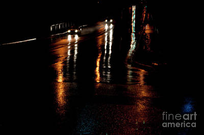Long Lights At Night Art Print by Gary Chapple