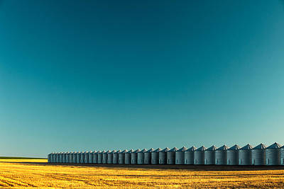 Long Line Of Bins Print by Todd Klassy
