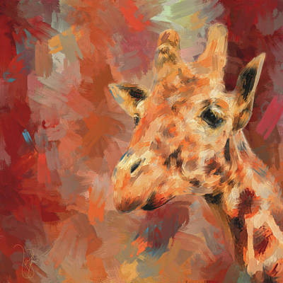 Painting - Long Necked Friend Giraffe Art by Jai Johnson