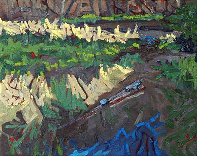 Beaver Lake Painting - Long Outlet by Phil Chadwick