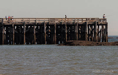 Photograph - Long Pier At Fort Foster by Mark Alesse