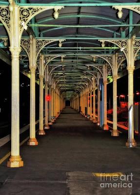 Photograph - Long Platform Albury Station By Kaye Menner by Kaye Menner