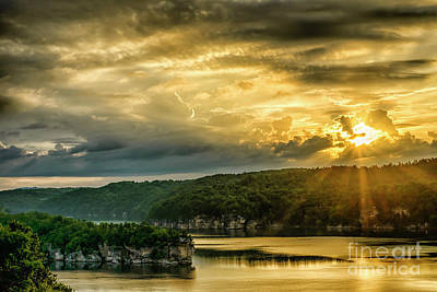 Photograph - Long Point Summersville Lake Sunrise by Thomas R Fletcher