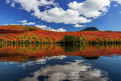 Photograph - Long Pond And Clouds by Tim Kirchoff