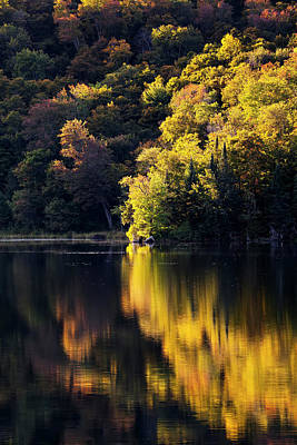 Photograph - Long Pond September Reflections by Alan L Graham