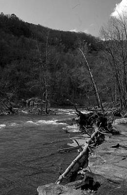 Print featuring the photograph Long-pool-log-jam by Curtis J Neeley Jr