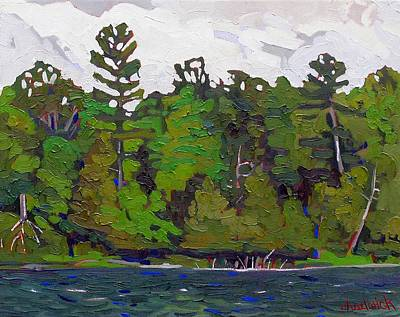 Gusts Painting - Long Reach Shore by Phil Chadwick