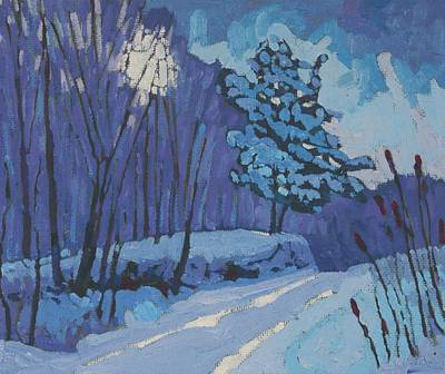 Painting - Long Reach Snow Day by Phil Chadwick