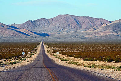 Long Road Out Of Beatty Art Print by Steve  Gass