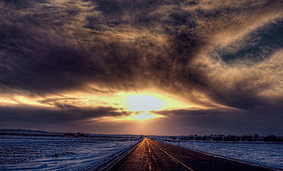 Photograph - Long Road To Sunset by Aliceann Carlton