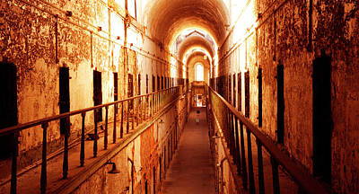 Photograph - Long Rows Of Prison Cells by Paul W Faust - Impressions of Light