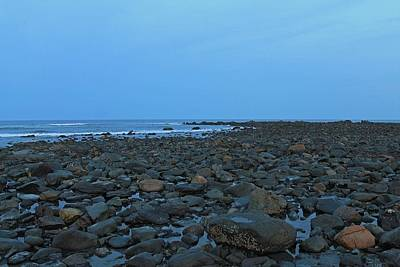 Photograph - Long Sands Beach York Maine At Dusk 1 by Michael Saunders