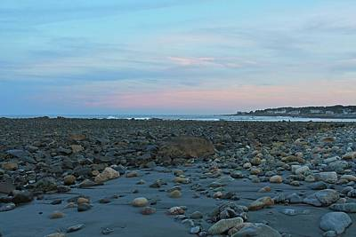 Photograph - Long Sands Beach York Maine At Dusk 2 by Michael Saunders