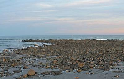 Photograph - Long Sands Beach York Maine At Dusk 3 by Michael Saunders